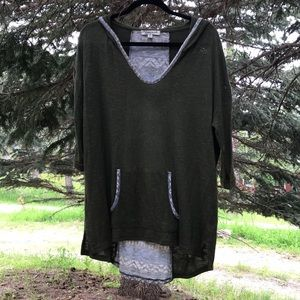 Extra Touch 2XL Olive Green Tunic